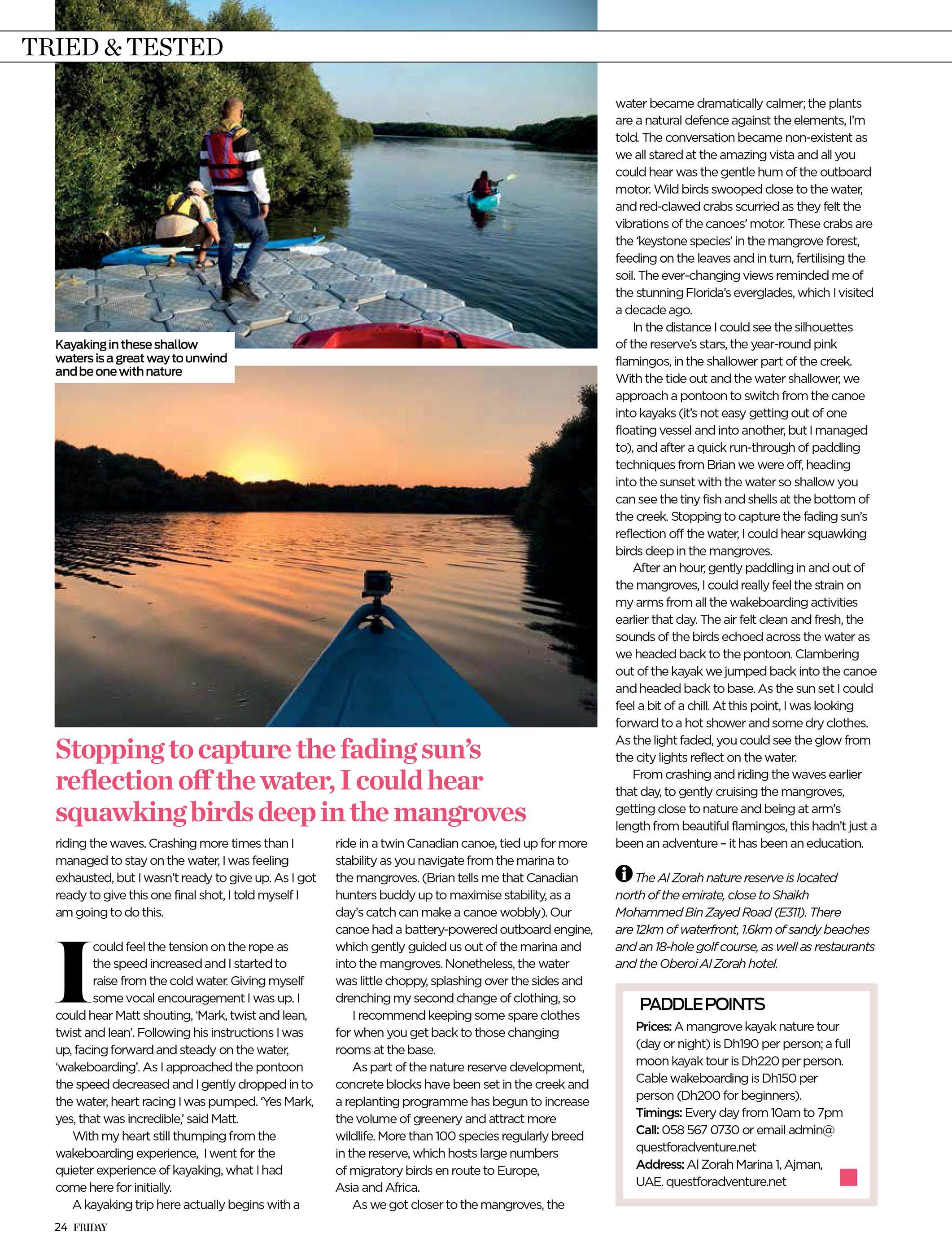 Friday Magazine, Gulf News, UAE